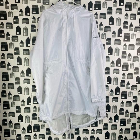 WToo   Men's NWT White Long Windbreaker Jacket